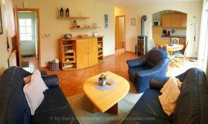 Wohnzimmer, Eßzimmer und Wohnküche
